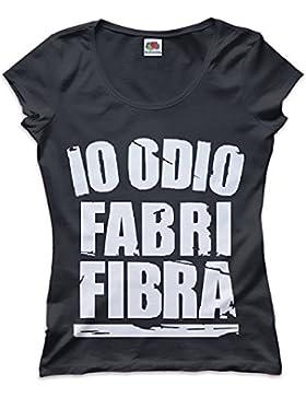 Mokaba T-Shirt Io Odio Fabri Fibra Rap Fenomeno Donna Vari Colori