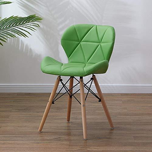 HuaHua Furniture Esszimmerstühle, Dining Wooden Lightweight Chairs Holzbeine & Komfortable gepolsterte Sitz Home Office Schlafzimmer Stuhl, einfach zu montieren (Color : Green) -