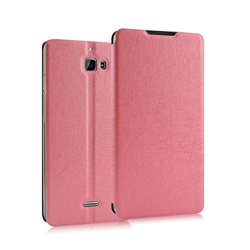 Heartly Premium Luxury PU Leather Flip Stand Back Case Cover For Micromax Canvas Nitro A310 A311 Dual Sim - Cute Pink