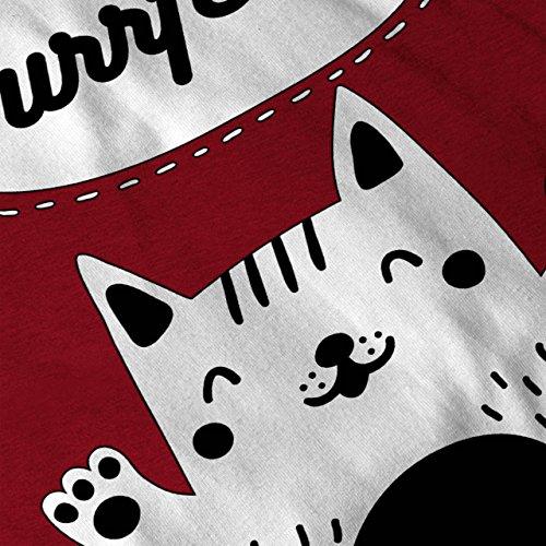 Katze Perfekt Witz Komisch Schön Kätzchen Damen S-2XL Muskelshirt | Wellcoda Rot