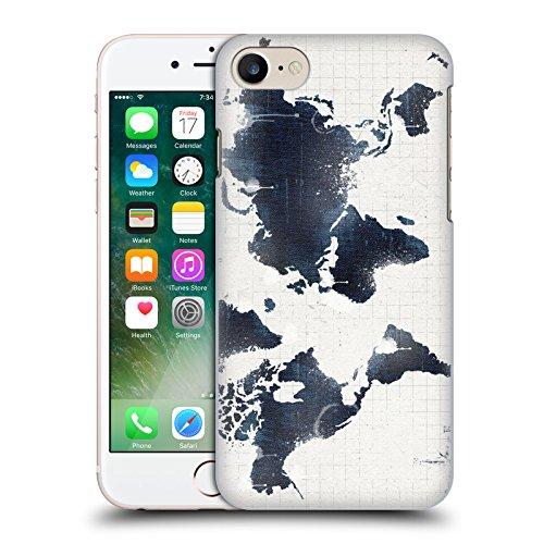 Ufficiale Ali Chris Mondo Nero Pericolo Collezione Mappe Cover Retro Rigida per Apple iPhone 6 / 6s Mondo Bianco Pericolo