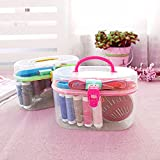 #6: Mini Handheld Sewing Machine Kit By House of Quirk Small Craft Sewing supplies with Organizer Travel Plastic Storage Box