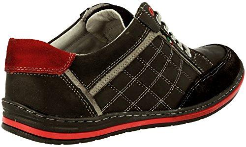 Mario , Chaussures à lacets homme Noir