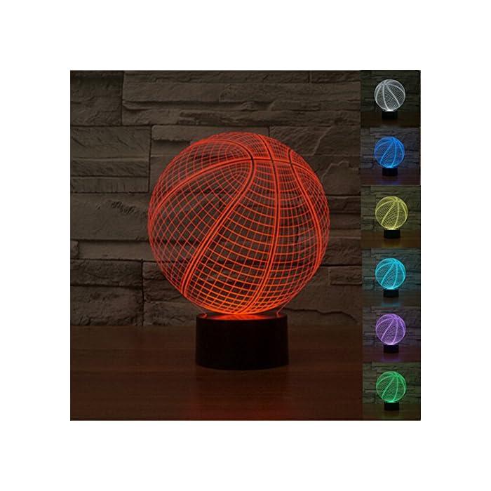 3D Lampe Optische LED Täuschung Nachtlicht,7 Farbwech mit Acryl Flat & ABS Base & USB-Ladegerät ändern Berühren Sie Botton Schreibtisch lampe Tischleuchte,Kinder Weihnachtsgeschenke 1