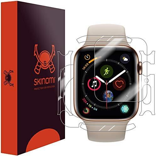 Skinomi TechSkin, Schutzfolie für Apple Watch Series 4-44 mm, Vorder- und Rückseite, wasserabweisend