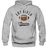 Any Given Sunday An jedem Verdammten Sonntag Hoodie Herren Super Bowl American Football Hoodies NFL Kapuzenpullover, Farbe:Graumeliert;Größe:5XL