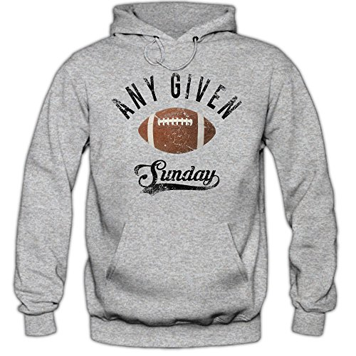 Any Given Sunday An jedem Verdammten Sonntag Hoodie Herren Super Bowl American Football Hoodies NFL Kapuzenpullover, Farbe:Graumeliert;Größe:4XL
