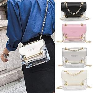 coil.c Damen Transparente Handtasche Gelee Crossbody Tasche für Damen, PVC transparenter, Tragbare kosmetische…