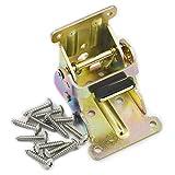 2PCS Stahl-Faltschloss Verlängerung Tabelle Bett Bein klappbare Füße Unterstützung Halterung Schraube Rahmen 3Farbe, Choi zinc, 63mmx68mmx54mm