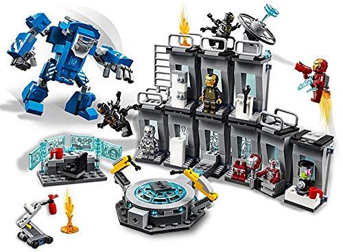 AMeu05 6 Minifiguren mit die Superheld Werkstatt und einen Igor-Rüstung-Mech mit Einem Cockpit für Minifiguren, Heroes Building Kit Toy, 0335