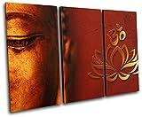 Bold Bloc Design - Buddha Om Mandala Peace Buddhism Religion 60x40cm Treble Leinwand Kunstdruck Box gerahmte Bild Wand hangen - Bereit zum Aufhangen - Canvas Art Print RC-6488(00B)-TR32-LO-A