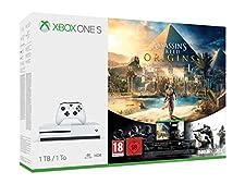 Xbox One S 1TB Konsole - Assassin's Creed Origins Bonus Bundle inkl. Tom Clancy's Rainbow Six: Siege Spiele-Download