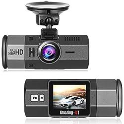 Oasser Autokamera Dashcam Car DVR Video Recorder FHD 1920x1080P mit G-Sensor 170 ° Weitwinkel Nachtsicht Bewegungserkennung und Loop Recorder