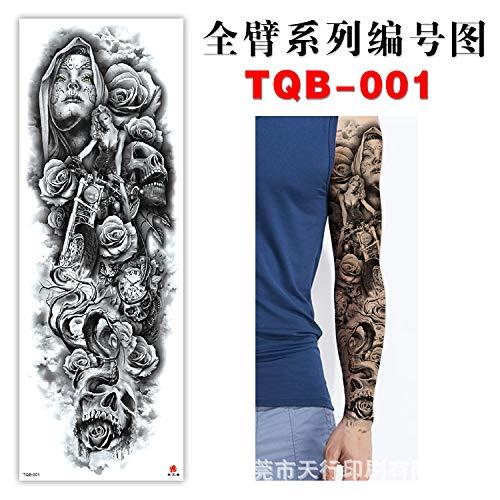 BRT Full Arm Tattoo Paste Arm Umweltschutz Wasserdicht Eeuropäischen Beliebten Tattoo TQB-001
