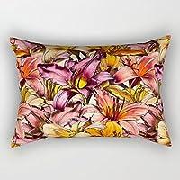 Daylily Drama una illustrazione floreale modello federa per cuscino 50,8x
