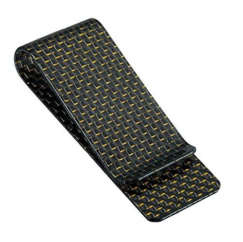 spezieller Geldclip hochwertige Carbonfaser für Männer, rfid Schutz super dünnes minimalistisch-gold (Inspirierte-tasche Geldbörse Designer)