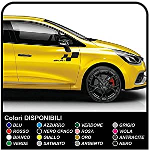 stickers clio rs sport megane rs graphics set stickers clio and megane strips car decals. Black Bedroom Furniture Sets. Home Design Ideas