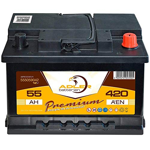 Adler StartPlus55 Premium Autobatterie