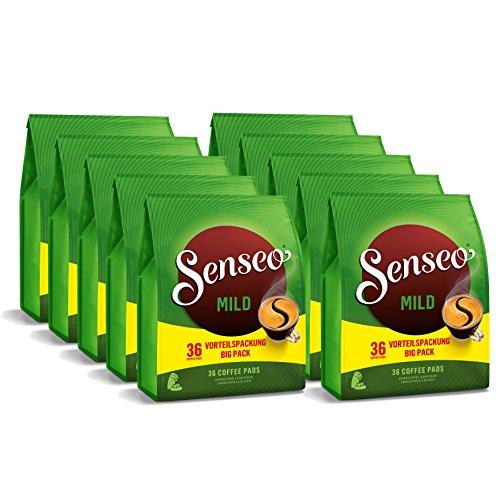 Douwe Egberts Senseo Milde Röstung Vorteilspack, 10 Packungen mit jeweils 36 Kaffeepads