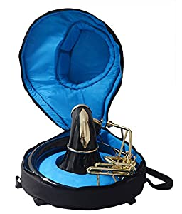 SOUSAPHONE Bb PITCH BLACK LACQUERED + BRASS POLISHED FOR SALE Bb PITCH W/ BAG