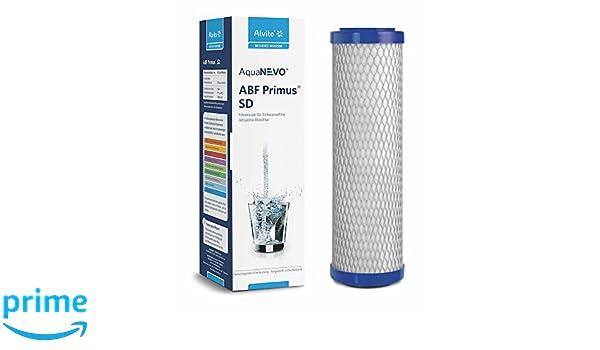 3 x Alvito filtre à eau ABF primus sd-charbon actif bloc Filtre aquanevo 0,45 µm