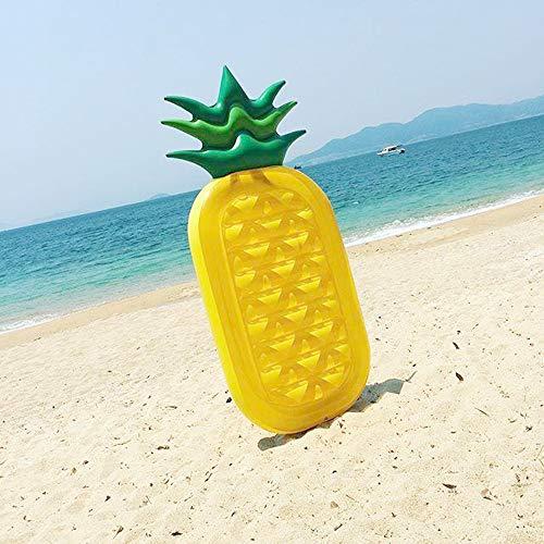 Froadp Schwimmring Luftmatratzen PVC Aufblasbar Schwimmreifen Wasserspielzeug Tragfähigkeit 120KG für Strand Party Sommerspielzeug Kinder Erwachsene(200x90x20cm, Ananas)
