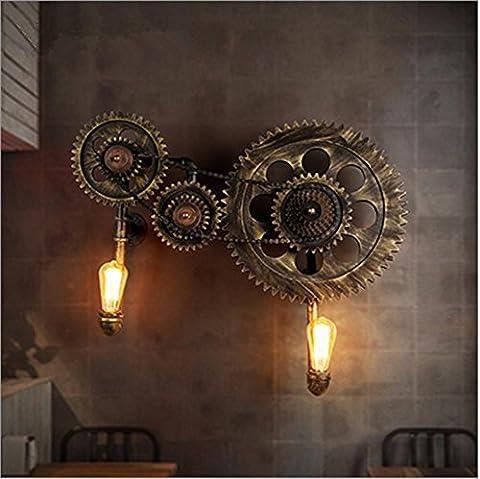 Applique Murale Wall Light Vintage Industrial LOFT Steampunk Creative Gear