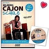 Erlebnis Cajon Schule - schnelle und einfache Einstieg ins Cajonspiel - ohne Vorkenntnisse tolle Grooves spielen - für alle Altersstufen - Cajonschule mit CD und bunter herzförmiger Notenklammer - EH3830 4026929919014
