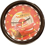 Fun House 004605 Disney Cars - Reloj de pared con diseño de Rayo McQueen (30 cm), color rojo