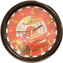 Fun House 004605 Disney Cars - Reloj de pared con diseño de Rayo McQueen (30 cm), color rojo