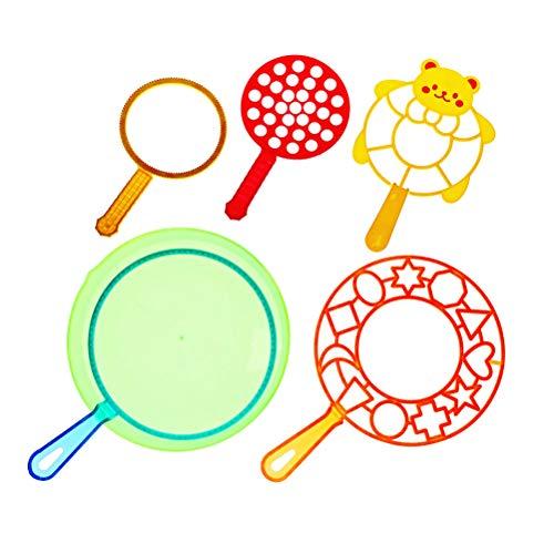 TOYANDONA Bubble Spielzeug Sets Big Bubble Maker Sets für Kinder 6 Stücke (Nebelmaschine Seifenblasenmaschine)