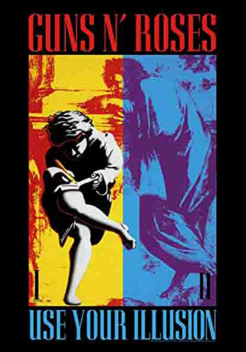Guns N 'Roses - Use Your Illusion - poster drapeau - 100% Polyester - Taille 75 x 110 cm