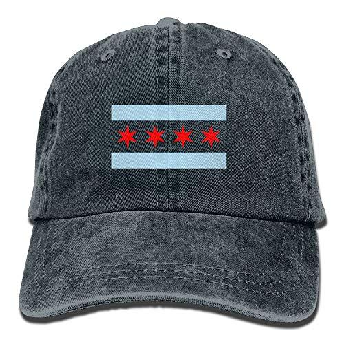 15de98bdf SVVOOD Unisex Adult Hat Chicago City Flag Washed Denim Dad Baseball Cap  Adjustable