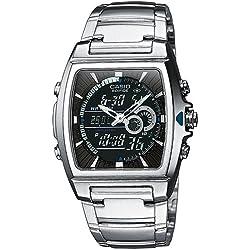 Casio Edifice Reloj Analógico/Digital de Cuarzo para Hombre con Correa de Acero Inoxidable – EFA-120D-1AVEF