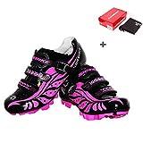 B&Y Zapatillas de Ciclismo Mujer MTB Zapatos (US6.5/Eu38/Ft24cm)