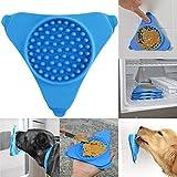 Covermason Langsamer Treater an der Wand montiert Dosiermatte Haustier Baden Hundetraining Lecken Ablenken (Blau)