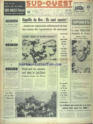 NOUVELLE REPUBLIQUE (LA) [No 6590] du 17/05/1966 - LES CONFLITS SOCIAUX - E. CERNAN SERA LE 1ER HOMME-SATELLITE - AIT AHMED EST A ROME - LES BOUDDHISTES PROCLAMENT LA LUTTE A OUTRANCE CONTRE LE GENERAL KY - VACHES MAIGRES AUX USA PAR GARCUEL - L'ACCIDENT DU PONT DE ST-CLOUD - 5 ANS DE PRISON AU GANGSTER SALVATI - LES SPORTS - LE GIRO - MICHEL GRAIN ET LE DERBY - CLAY ET COOPER - ATHLETISME - L'ANGLAIS EN 3 LECONS PAR MICHAUD - LE PRIX ALBERT LONDRES A YVES COURRIERE par Collectif