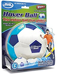Hover Ball: Fun Indoor Soft Foam Floating Football with Glide Base (Blue)