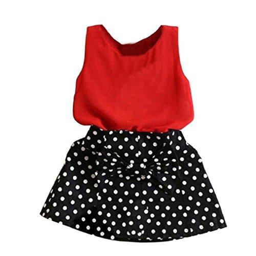 Kobay Mädchen Weste Plissee Kleid Zwei Stücke Set Kleidung Kinder Rock Anzug (Rock Plissee Anzug)
