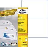 Avery Zweckform 3655 Universal-Etiketten (A4, Papier matt, 200 Etiketten, 210 x 148 mm) 100 Blatt weiß