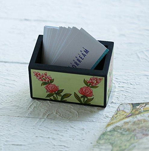 Regali giorno padre, Piccola legno floreale penna / matita / oggetti per ufficio supporto / basamento dell'organizzatore di immagazzinaggio desk stazionario