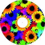 Rollstuhl - Speichenschutz - Blumen Motive (Preis pro Paar) (Design Blumenranken grün, 24 Zoll inkl. Clipverschluss)
