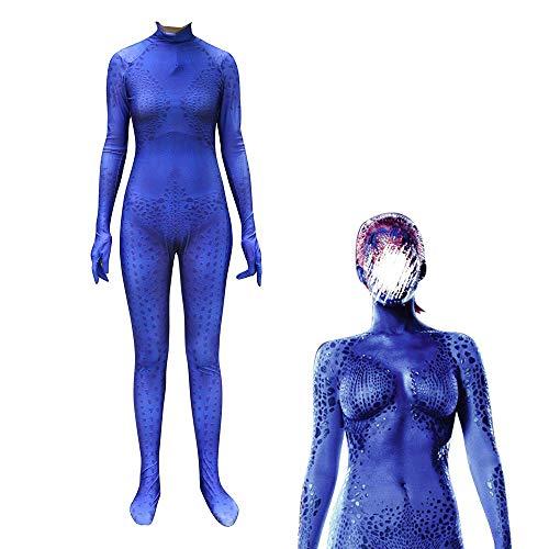 Cosplay Kleidung X-Men Blau Gefleckt Magische Weibliche Cosplay Lycra Anime Kostüm 3D Digitaldruck Enge Weihnachten Halloween Kostüm Für Erwachsene Tragen Blue-XL