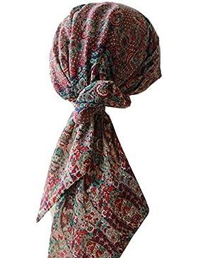 Facil de corbata cabeza bufandas para la quimioterapia, pérdida de pelo