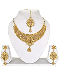Vipin Store Golden Color Stone And Kundan Gold Plated Jewelery Set - B078Y1R9SN