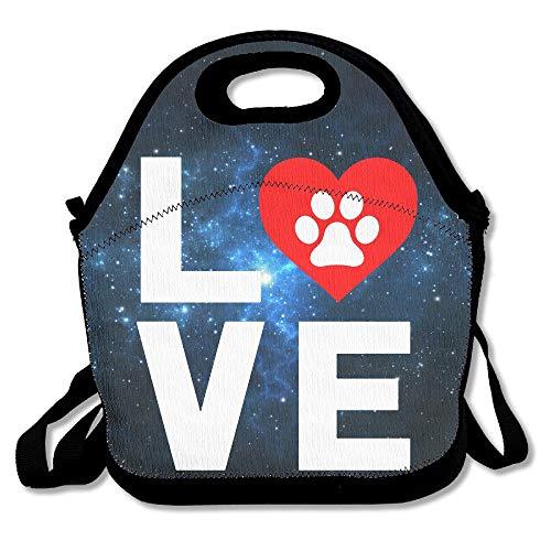 Animal Lover Pfote Print Wiederverwendbare Ziplock Crossbody Picknicktasche Design für Büro tragbare Lunchbox Kühltasche für die Schule Lunchbag für Damen, Erwachsene, Jungen und Mädchen