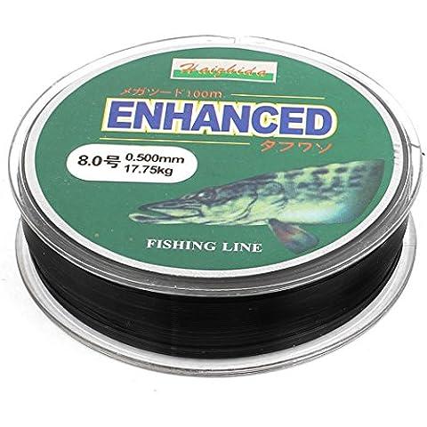 8# Nylon Negro 0.5mm Dia 17,75 kg Thread Pesca Señuelo Cable Carrete 100M