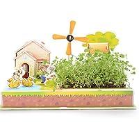 Purplerain - Puzle de papel con forma de casa para aprender temprano, fantástico regalo para niños (granja de molino de viento)