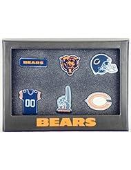 Chicago Bears 6Pinset dans boîte cadeau–NFL Football Supporter Boutique
