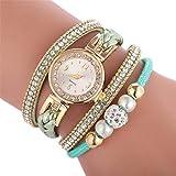 VJGOAL Damen Uhren, Mode Armbanduhr Frauen Mädchen Mode Trend Süß Strass Quarzuhr Kreis Watch